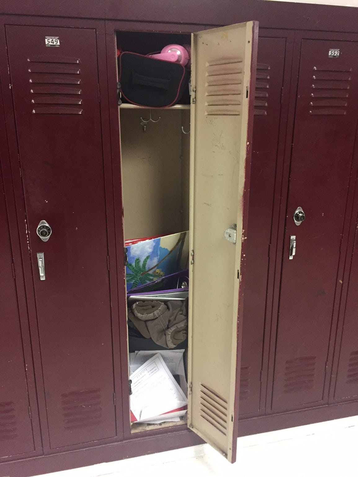 Locker, Shelburne Middle School, Staunton, Va.