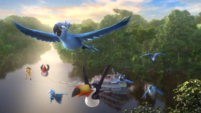 """The animated film """"Rio 2"""" is full of 3-D wonders."""