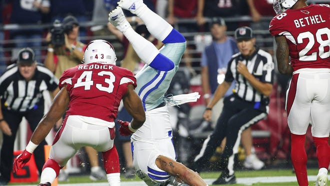 The Cowboys are up in Bob McManaman's latest NFL power rankings. The Cardinals are not.