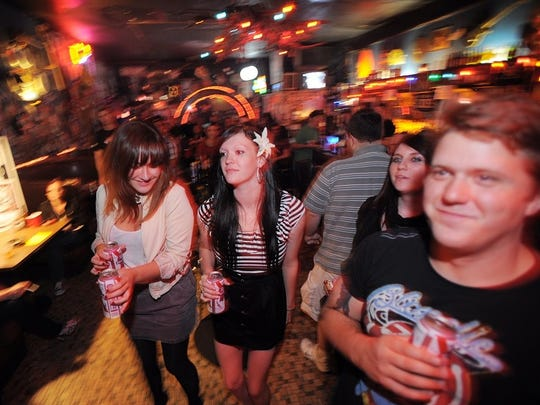 Music fans attend a 2010 edition of Punk Rock Night at the Melody Inn.
