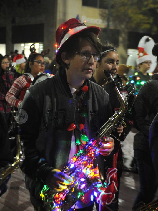 Parade lights up downtown