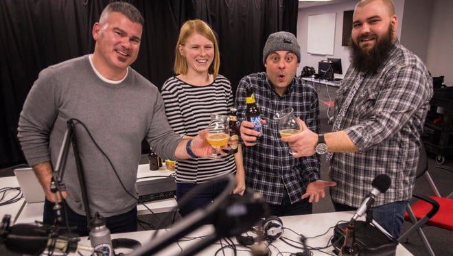The It's the Beer Talking team: Host Jason Strempek, producer/editor Sophia Trigg, producer Ryan Chaffin and host Jeff Baker on January 26, 2017.