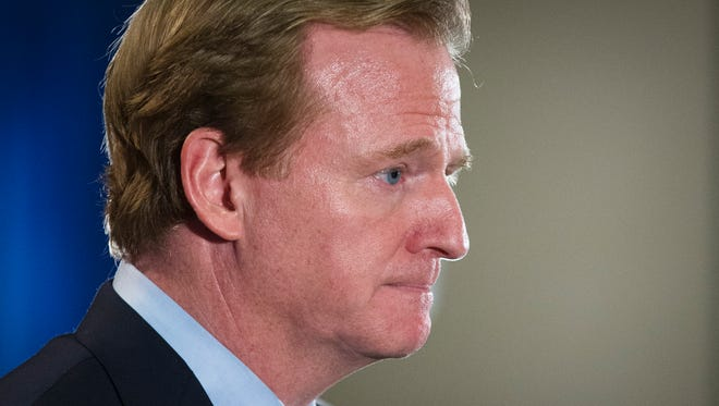 Commissioner Roger Goodell has said he hopes the NFL is ready to move forward with reforms to its player misconduct policy by the Super Bowl.