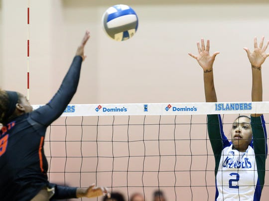 Texas A&M-Corpus Christi junior Brittany Gilpin was named Southland Conference Player of the Year after moving from middle blocker to outside hitter this seaosn.