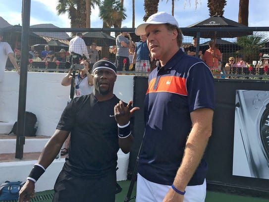 Kevin Hart and Will Ferrell at Desert Smash in La Quinta.