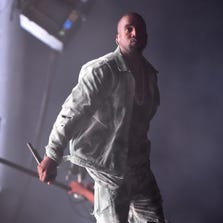 SAN FRANCISCO, CA - AUGUST 08:  Rapper Kanye West performs at the Lands End Stage during day 1 of the 2014 Outside Lands Music and Arts Festival at Golden Gate Park on August 8, 2014 in San Francisco, California.  (Photo by Jeff Kravitz/FilmMagic) ORG XMIT: 505530279 ORIG FILE ID: 453367450