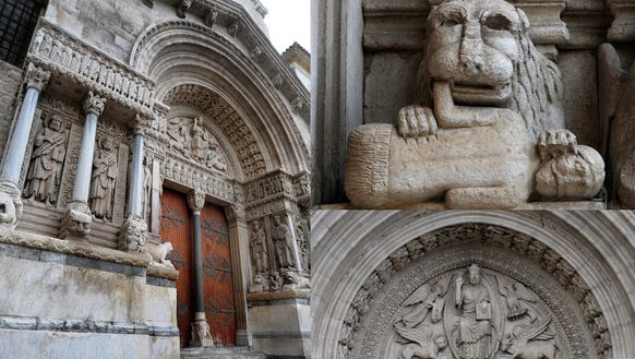 The gruesome and beautiful church of Saint-Trophime.