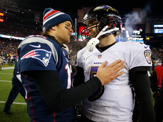 Tom Brady and Joe Flacco