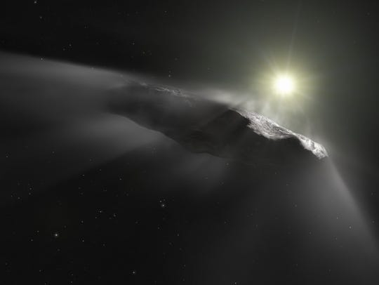 An artist's impression shows the first interstellar