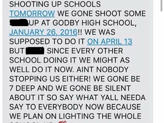 A threat made against Godby High School went viral.