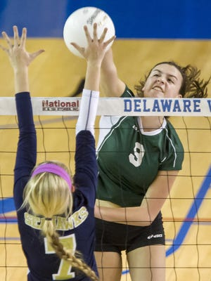 Grace Merritt, seen this file photo, and Archmere improve to 8-0 with a sweep of Delaware Military Academy on Tuesday.