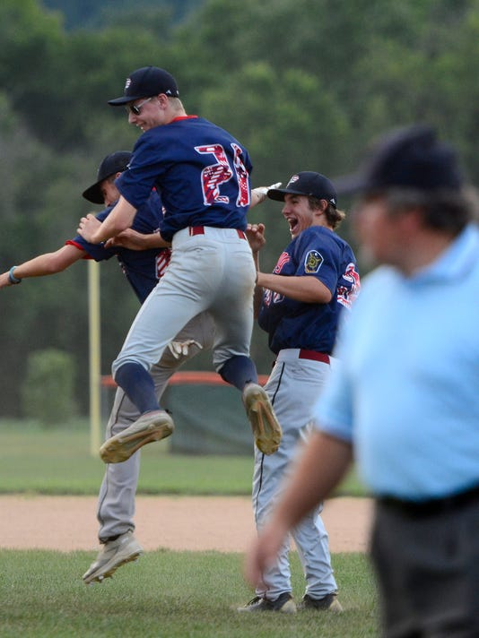 Pleasureville vs Dallastown in the American Legion baseball championship game