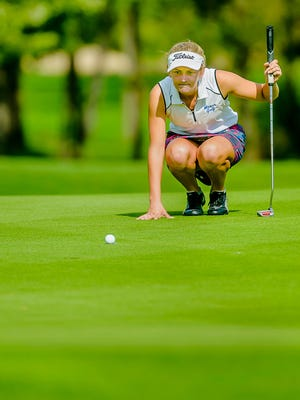 Mason's Claudia Vondra is one of the top returning golfers in the area.