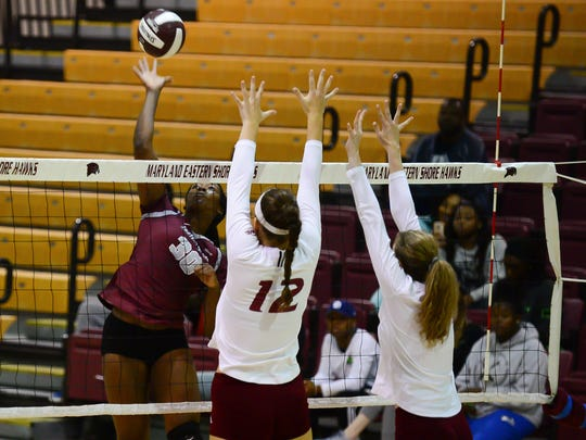 Maryland Eastern Shore's Alana Polk on the attack against