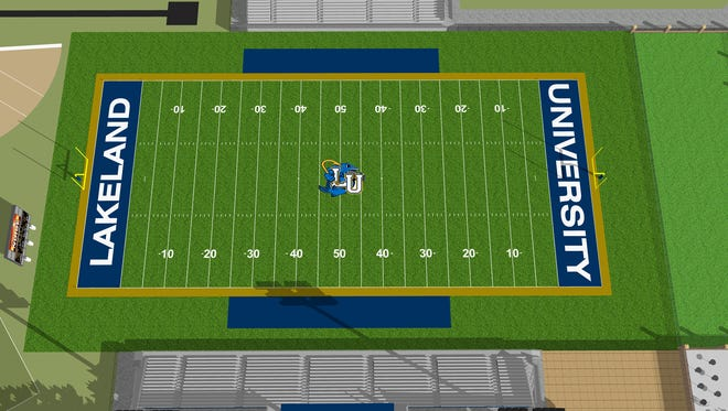 Rendering of Lakeland University's future outdoor athletic facility.