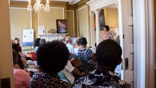 Participants seat outside of the room to listen to Rosa Luz Catterall during her speech on Friday, July 6, 2018 at The William C. Goodridge Center & Underground Railroad Museum in York, Pa.