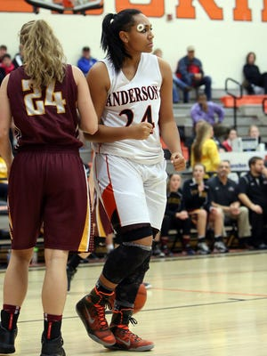 Anderson's Alexis Starks had 17 points in Tuesday's 58-34 win over Sycamore.