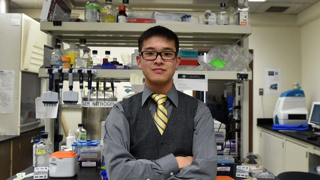 University of Nevada, Reno student Boris Zhang earns his chemistry degree Saturday and plans to attend pharmacy school next fall.