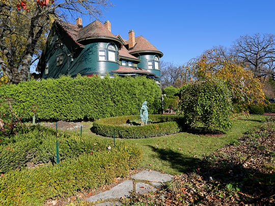 The grounds of the Painted Lady are carefully landscaped.