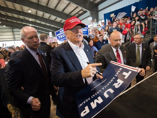 Donald Trump campaigns in Harrington on April 22. He won the Delaware primary.