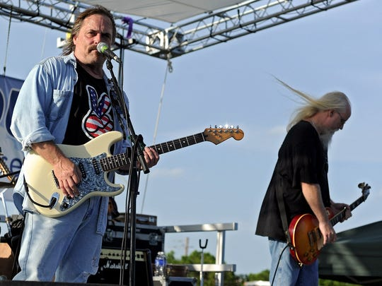 Members of AA Bottom perform at Sheppard Air Force Base's 2014 Freedom Fest. Catch them in concert July 28 at The Iron Horse Pub.