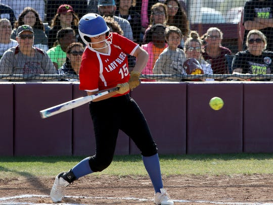 Graham junior Tatum Trester led the Lady Blues with a .414 batting average and 41 RBIs.