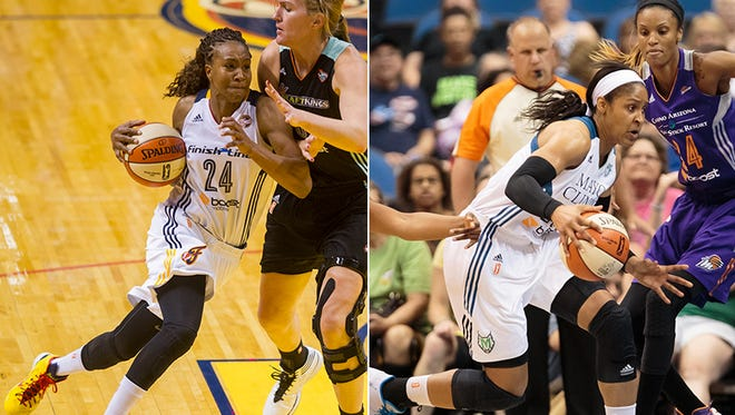 Tamika Catchings of the Fever will battle Maya Moore of the Minnesota Lynx in the WNBA Finals.