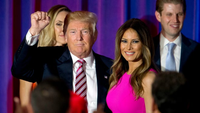 Republican presidential candidate Donald Trump and wife Melania Trump.