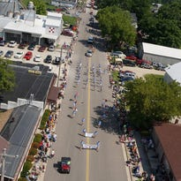 An aerial view of the Belgian Days parade in Brussels in 2014. The two-day festival featured a large parade, live music, arts & crafts fair and concessions at Town Park. Improvements to the park recently got the green light by the Brussels Town Board.