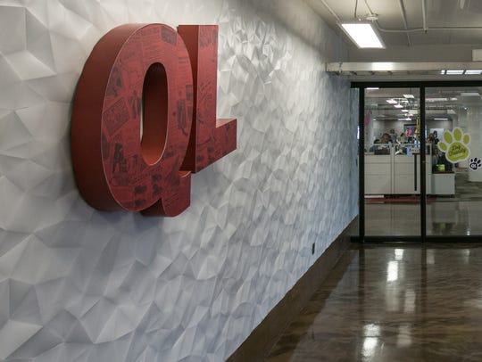 Offices occupied by Quicken Loans are seen in the former