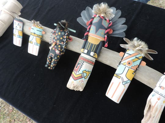Kachinas were among the items displayed at last year's American Indian Cultural Arts Festival at Aztec Ruins National Monument.