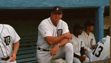 Then-Tigers interim manager Larry Parrish, shown before a Sept. 1, 1988, game, will retire from baseball after this season in Toledo.