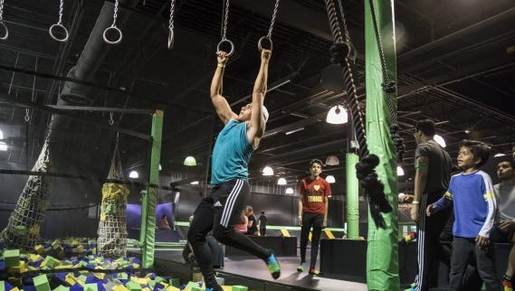 The ninja course at Got Air in Lafayette.