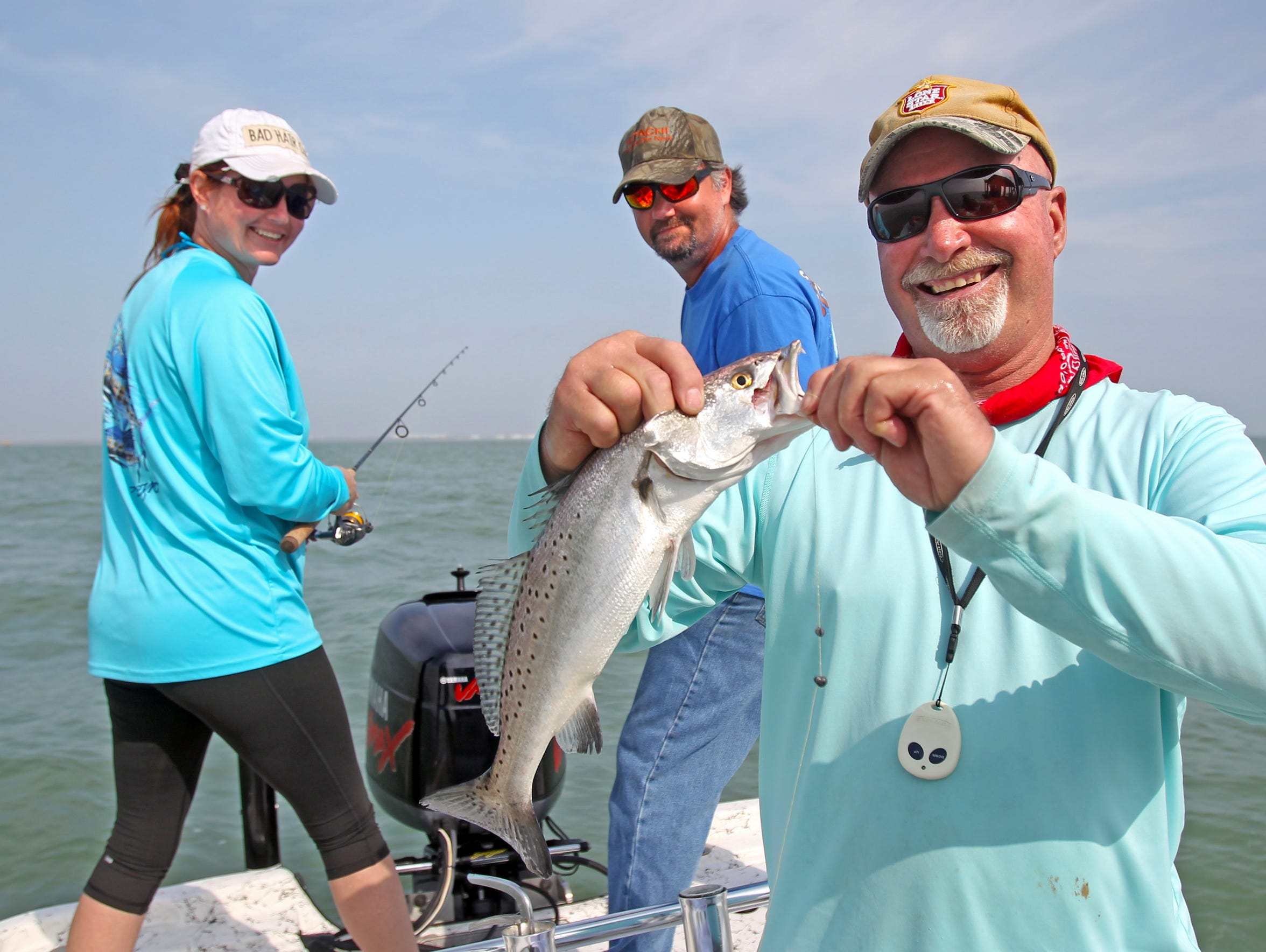 Guide Gordon Taylor provided a free thank-you fishing