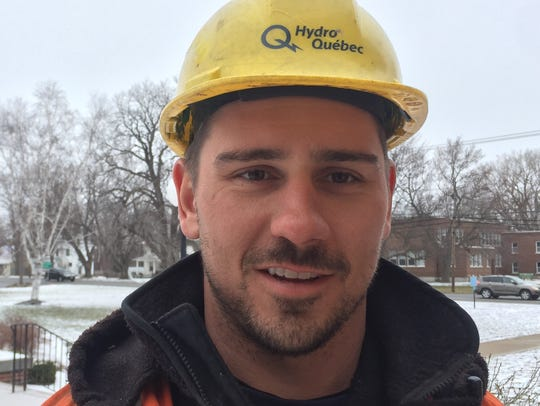 Mathieu Dufour, 31, of Hydro Quebec, is among a throng