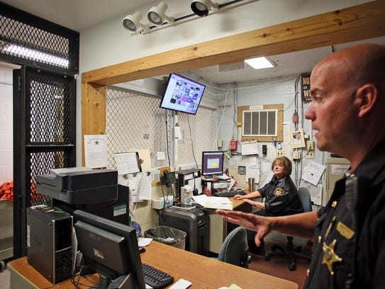 This area is used by deputies to process inmates into