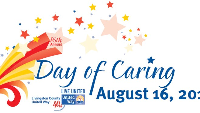 Livingston County United Way's annual Day of Caring is set Aug. 16.