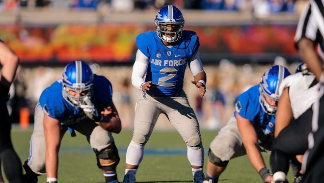 Air Force quarterback Arion Worthman is a lot more comfortable running the football than throwing it. He'll have to share the ball better this year for the Falcons to be successful.
