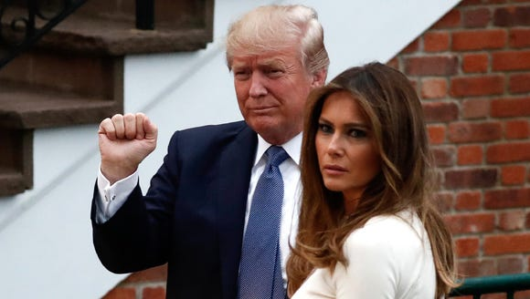 President Trump and wife, Melania, stopped by at the