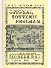 This is the official souvenir program from the 1911 Oregon State Fair.