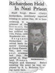 An article about Richardson's situation published in a Des Moines newspaper.