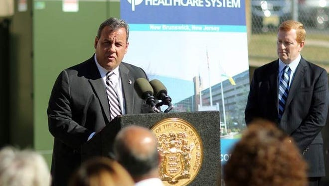 Gov.Chris Christie on Friday promoted the state's comprehensive efforts to assist counties, municipalitiesand other large power users in taking steps to ensure that critical facilities have power during storms, disasters and other emergency situations during a visit to Saint Peter's University Hospital in New Brunswick.