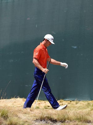 Billy Horschel walks off the 18th tee during the final round of the 115th U.S. Open Championship at Chambers Bay. Horschel was vocal about his dislike for the course following the tournament.