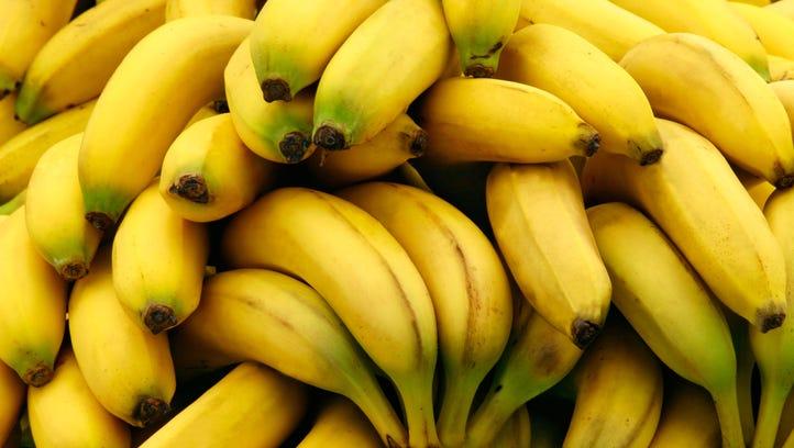 Stock photo of bananas.