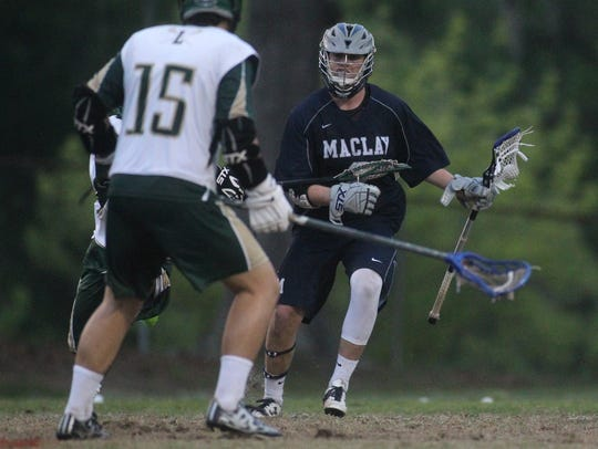 Maclay's Sam Chase works his way around Lincoln's defense.