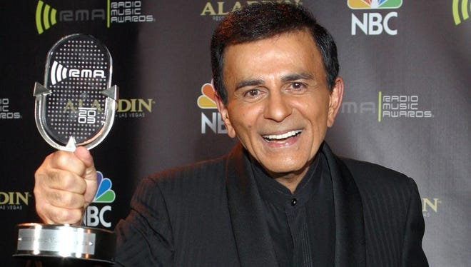 A 2003 photo of Casey Kasem at the Radio Icon award during The 2003 Radio Music Awards at the Aladdin Resort and Casino in Las Vegas.
