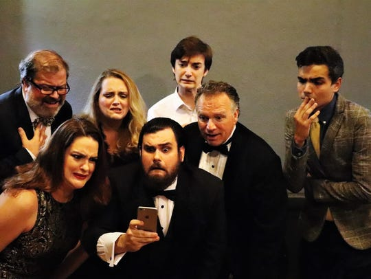 """The cast of Lab Theater's """"It's Only a Play"""""""