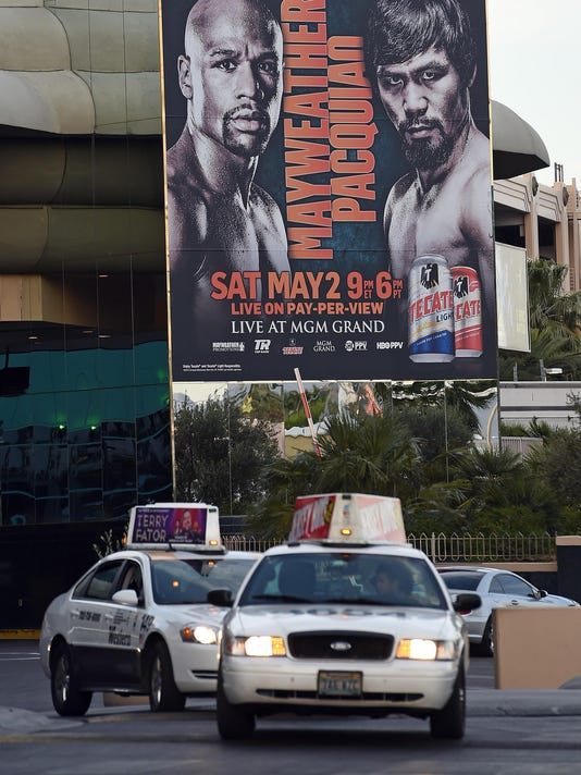 Las Vegas Readies For Floyd Mayweather Jr. v Manny Pacquiao