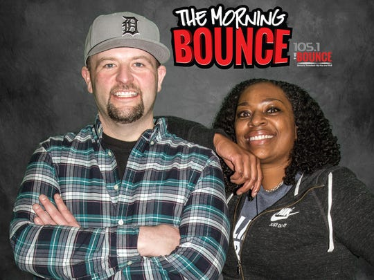Radio personalities BIGG and Shay Shay of Detroit's 105.1 the Bounce.