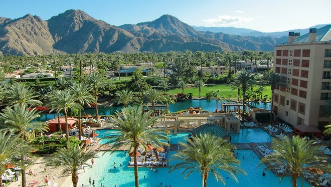 Enjoy the sandy beach and poolside cocktails at Renaissance Indian Wells. The hotel has special packages for the Labor Day weekend.